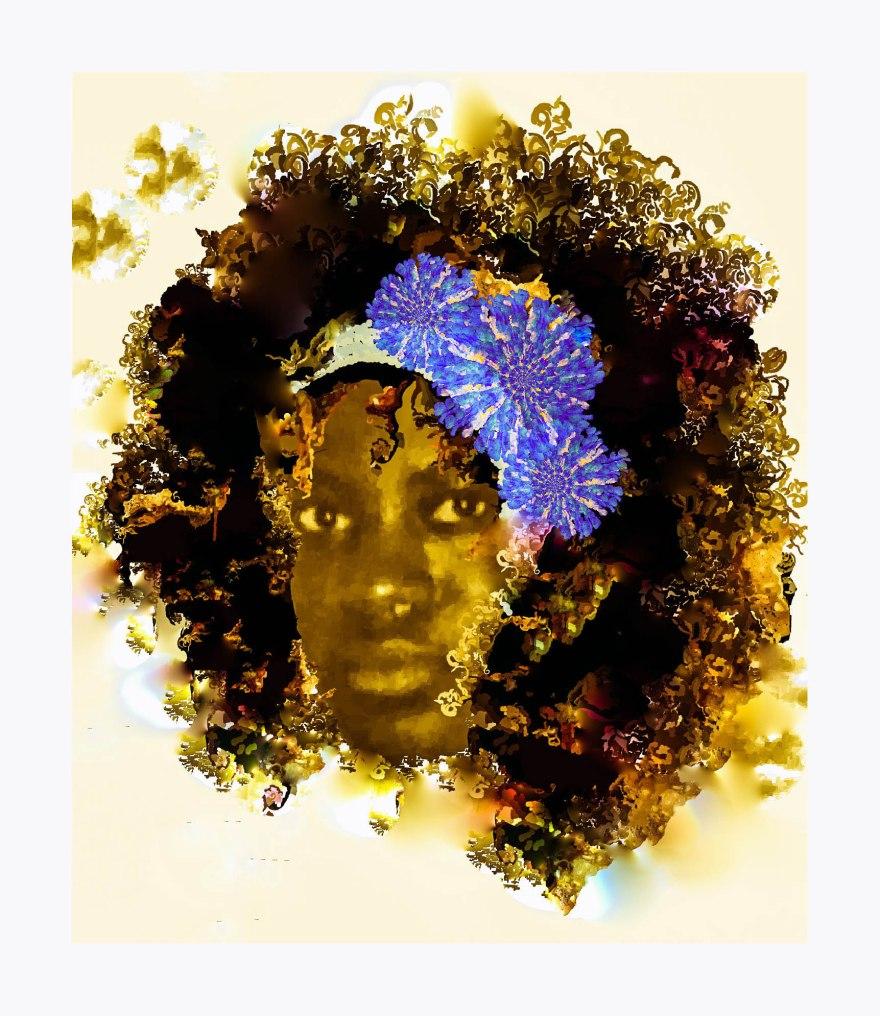African Girl framed
